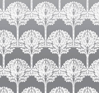 White & Silver Mylar Trees retro modern wallpaper: VCC0839