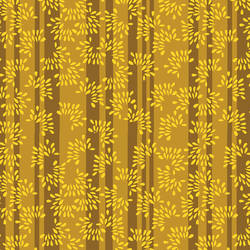 Floral Brown and Yellow Stripes