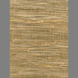 Beige Grasscloth and Gold Mylar handmade natural wallcovering: Be5691g