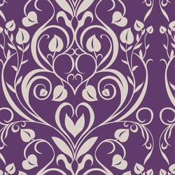 Hearts Damask retro modern custom digital wallpaper by Jessica Lynn Designs