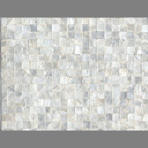 White Square Iridescent Shells