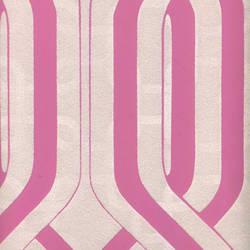Beige Velvet Geometric on Pink