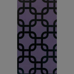 Black Velvet Geometric Squares on Purple