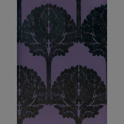 Black Velvet Trees on Purple