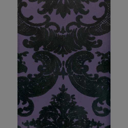 Black Velvet Damask on Purple