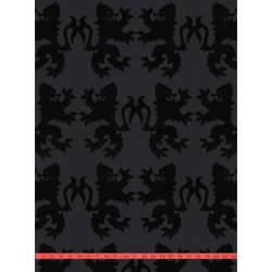 Black Velvet Lions on Black