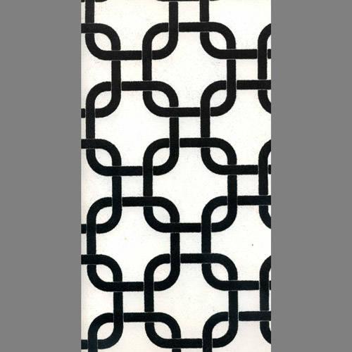 Black Velvet Geometric Squares on White