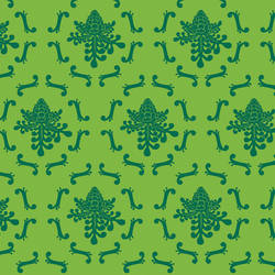 Royal Damask wallpaper by David Wien: Green