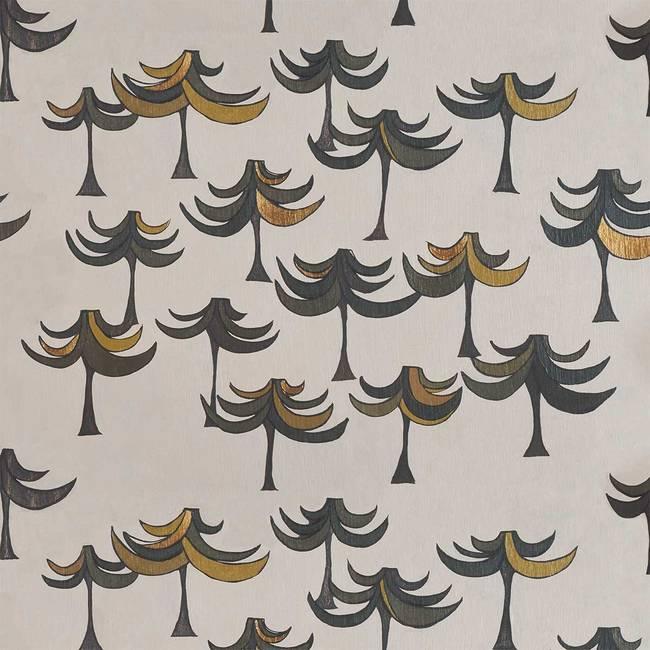 Pine Tree Forest custom modern wallpaper by Whitney Superstar