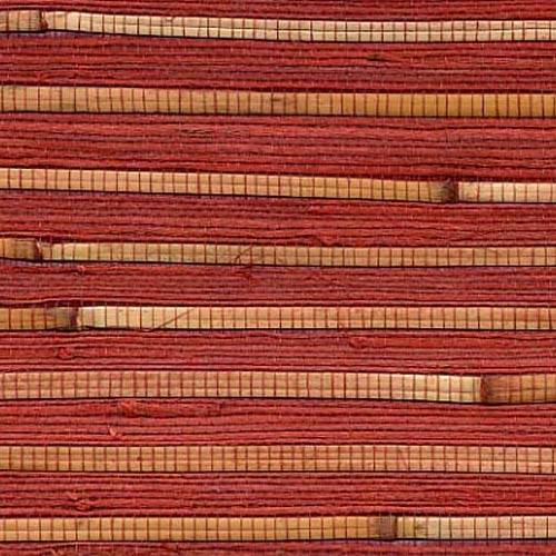 Red Grasscloth Wallpaper: Red Bamboo Wallcovering
