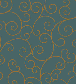Bronze Scroll screen printed wallcovering: VCC0619