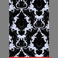 Black & Silver Ponyskin Heirloom velvet flocked wallcovering: VCC0618