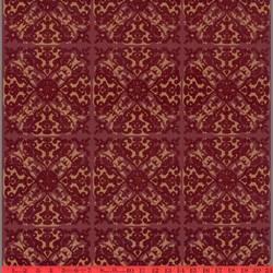 Burgundy Helena velvet flock wallcovering: VCC0649