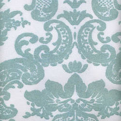 Blue Aqua Madison Damask velvet flocked wall covering: VCC0657