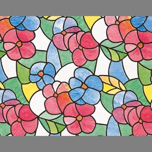 Stained Glass Translucent Window Film