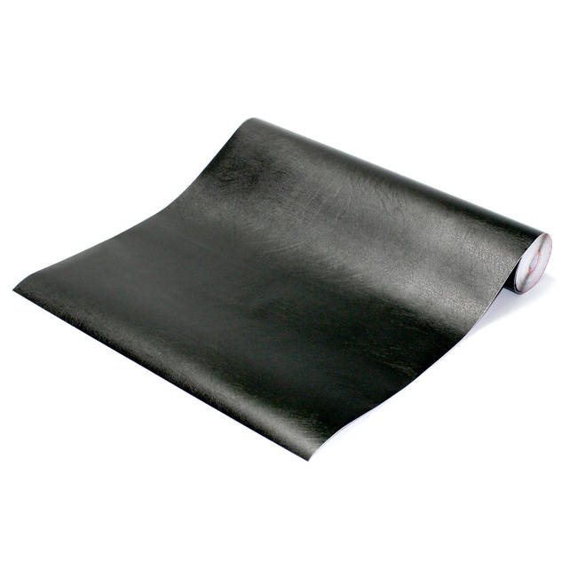 Faux Black Leather Contact Paper
