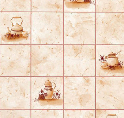 Tiles and Teapots Contact Paper