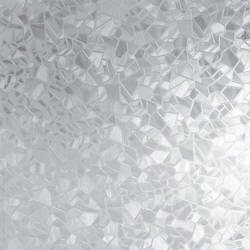 Broken Glass Translucent Static Cling Window Film