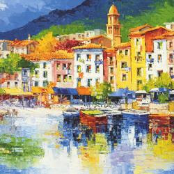 Riviera Ligure Trompe l'oeil mural wallpaper, 8 part: 112