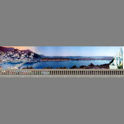 Adrain's Trattoria custom restaurant mural wallpaper