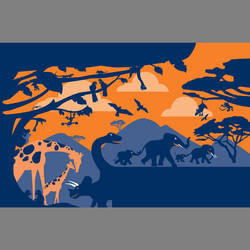 African animal custom kids mural wallpaper