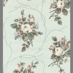 Traditional Floral Rose Wallcovering: 202091