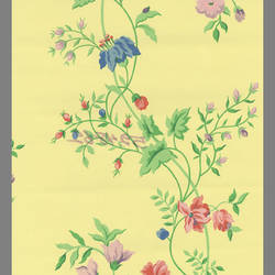 Traditional floral vine wallcovering:  524862