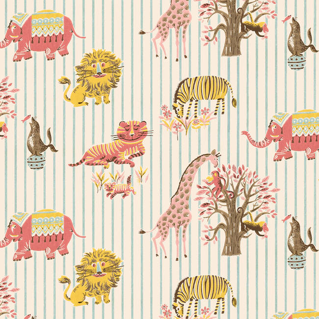 Visiting the zoo designyourwall for Wallpaper home vintage