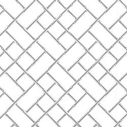 Bamboo screen printed retro-modern wallpaper: VCC0639