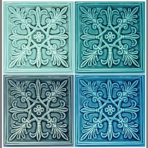 Fleur De Lis Tile Vinyl Applique Flooring Designyourwall