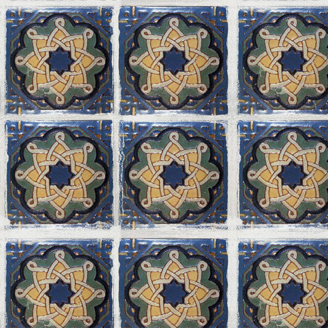 Spanish Tile 2 temporary decorative vinyl applique flooring