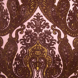 Purple Kismet Ornate Indian damask velvet flock wallpaper: VCC0604