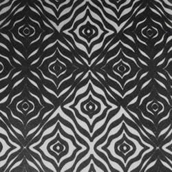 Black & Silver Matte Reverb velvet flock wallpaper: VCC0615