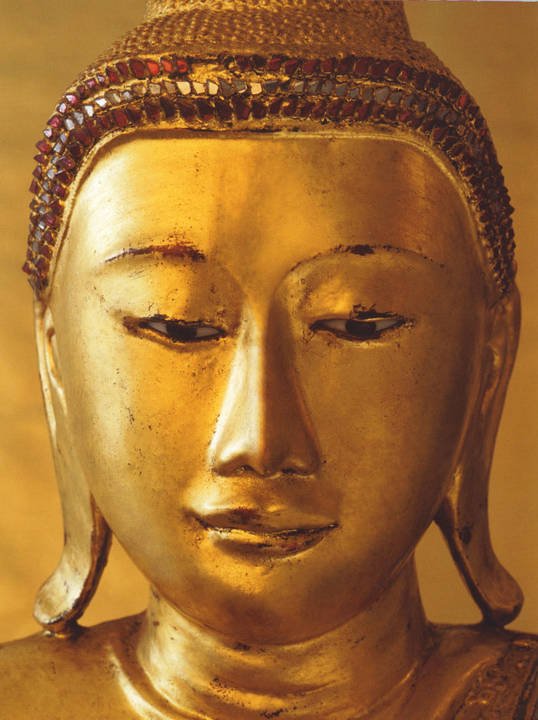 Golden Buddha Trompe L Oeil Wall Mural Wallpaper 4 Part