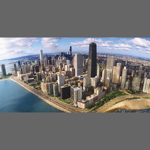 chicago skyline mural designyourwall