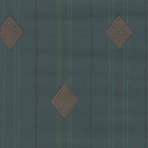 Green ethnic striped wallcovering: 520594