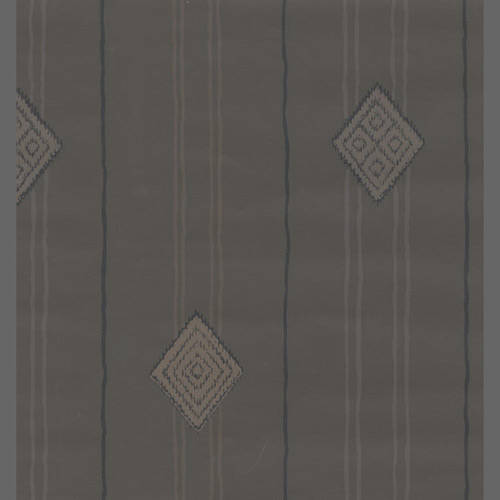 Grey Stripes with Diamonds - African Geometric Pattern