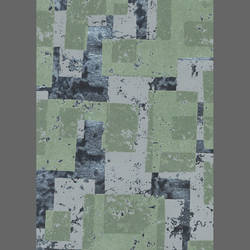 Green Block custom velvet flocked wallpaper: LA01