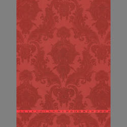 Red Velvet Heirloom Damask on Red