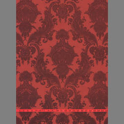 Burgundy Velvet Heirloom Damask on Red
