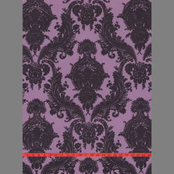 Purple Velvet Heirloom Damask on Purple