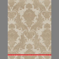 Beige Velvet Heirloom Damask on Beige
