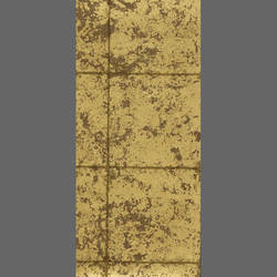 Gold Faux Tile Metallic Screen Print Wallpaper