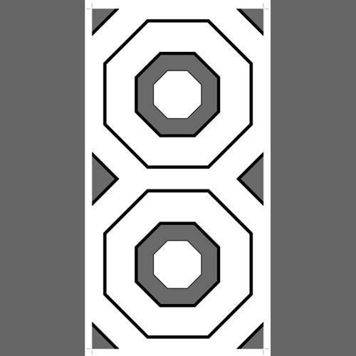 Geometric custom screen printed wallpaper