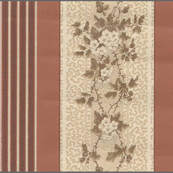 Traditional striped floral wallcovering: 516885