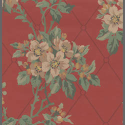 Traditional Floral pattern with Harlequin background: 522465