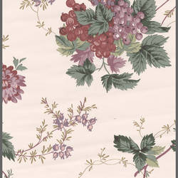 Traditional floral wallcovering with fruit: 572682