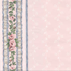 Traditional Pink Floral Stripe