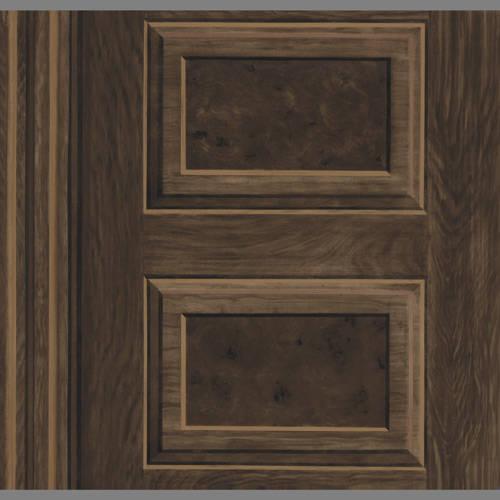 Faux Wood Grain Panel Wallpaper