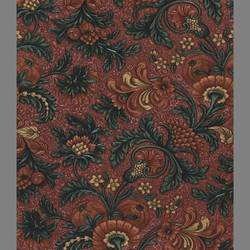 Traditional burgundy floral wallpaper: AE2233